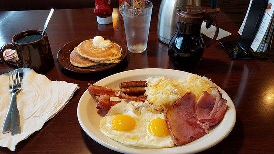 Village Inn: My Ultimate Breakfast. The coffee was extra.