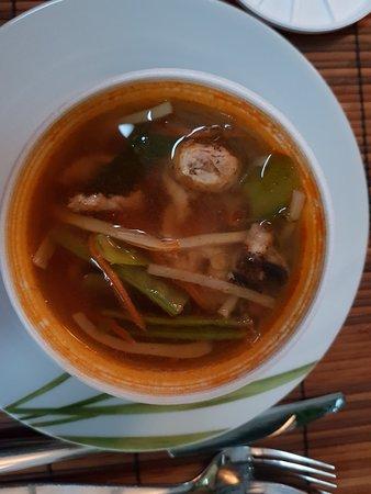 Heiligenhaus, Jerman: Scharfe Suppe mit rotem Gewürzrand - leider ungenießbar