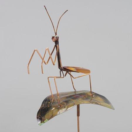 Haw Creek Forge: Praying Mantis on a Leaf