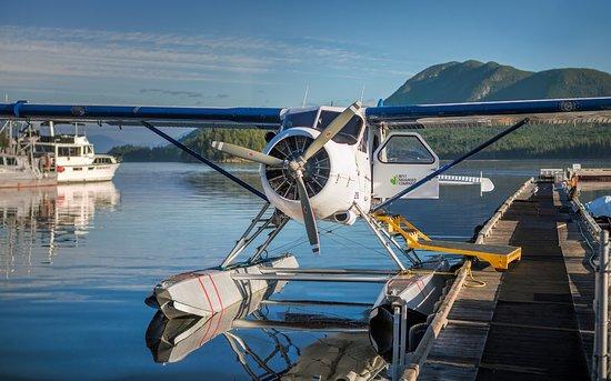 Beaver seaplane at the dock in Sechelt