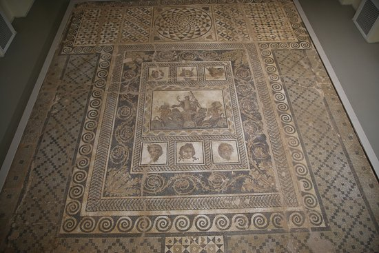 Dion Archaeological Park : Mosaic housed in its own building across the road.