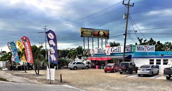7 Mile Grill: Directly on the famous Overseas Hwy. Gulfside MM 47.5 Plenty of parking !