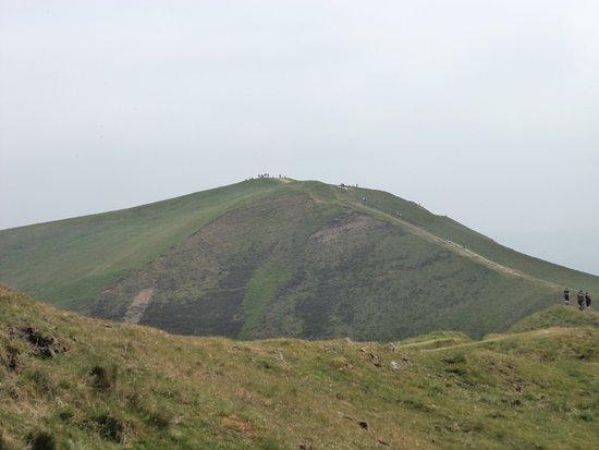 Winnat's Pass: The path allows the walker extensive views over Castleton