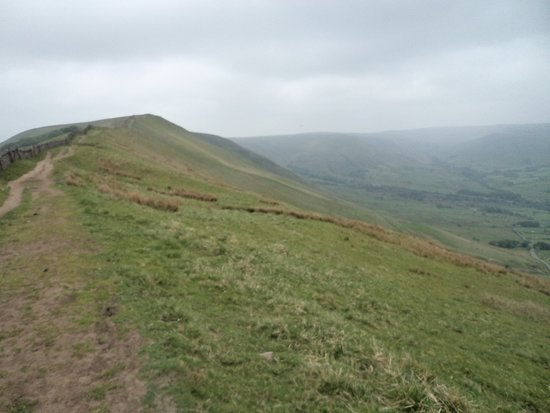 Winnat's Pass: Looking towards Chinley putting Winnat's at the rear.