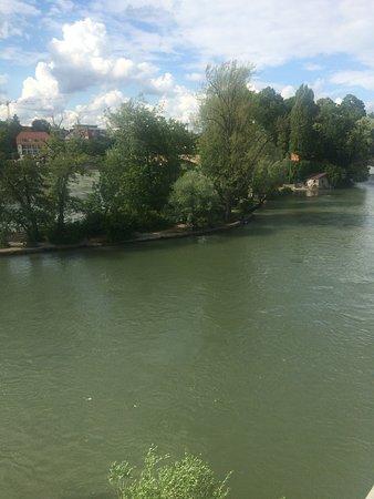 Rheinfelden, Suiza: Blick auf den Rhein