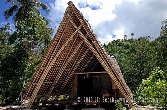 Lia Beach - Bamboo Resort: Beachview bamboo bungalow - Exterior