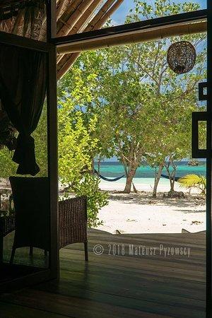 Lia Beach - Bamboo Resort: Beachview bamboo bungalow - Interior