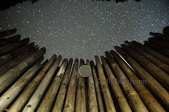 Lia Beach - Bamboo Resort: Beachview bamboo bungalow - 0pen-air bathroom under a million-star sky