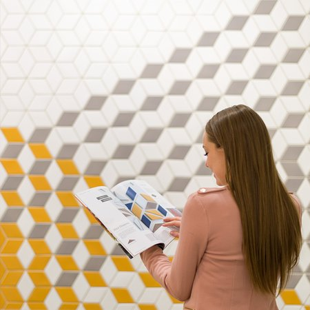 Shopping in the Rookwood Tile Showroom