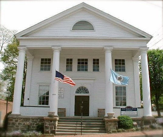 Fairfax, VA: Old Town Hall,the heart of Old Town, built in 1900 by Joseph Willard a gift for people of Fairfa