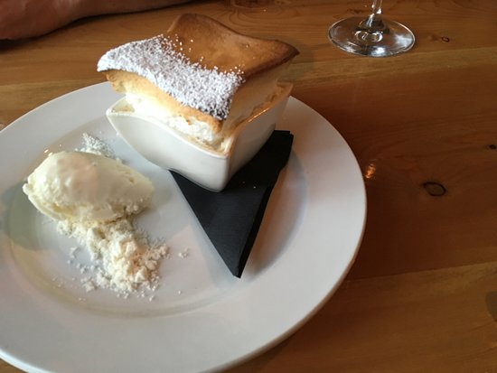 El Prado, NM: Lemon Meringue Souffle with Creme Fraiche Ice Cream