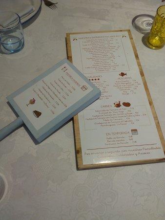 La Parra: Hasta el diseño de la carta es especial. En una pieza de madera, variedad y selección