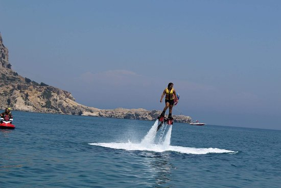 Archangelos, Greece: Flyboarding rhodes island tsampika beach summer 2018