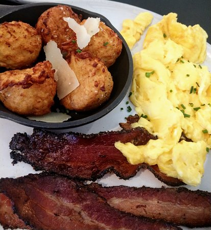 Magnolia Table : breakfast plate with bacon and potatoes