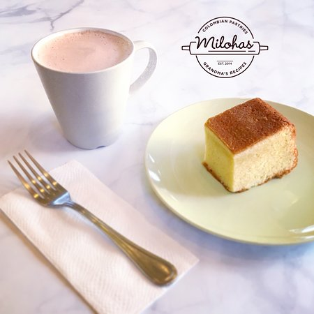 Milohas : Mantecada (Corn Cake) + Colombian Hot Chocolate