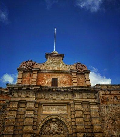 Mdina Main Gate - Baroque gateway: Mdina old town
