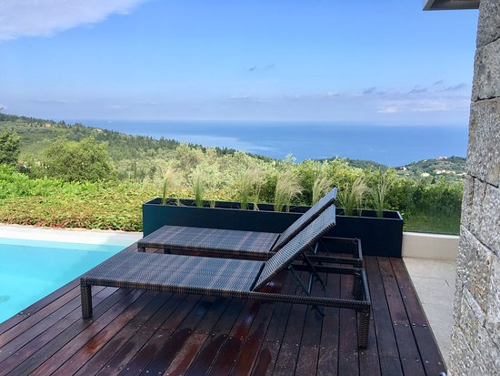 Tsoukaladhes, Greece: Relax by the pool - Villa Rodia