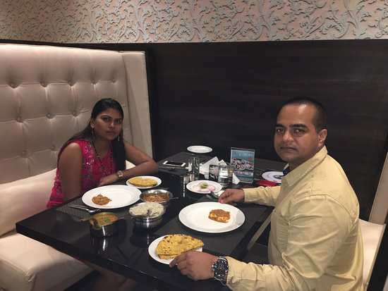 Vapi, India: Picture from The TGB Restaurant at Ginger Hotel