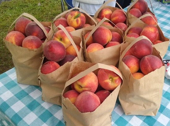 Midland Community Farmers Market : fresh ripe Georgia peaches