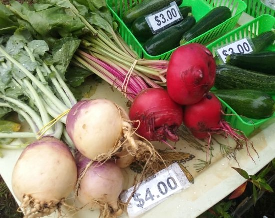 Midland Community Farmers Market: local home-raised vegetables