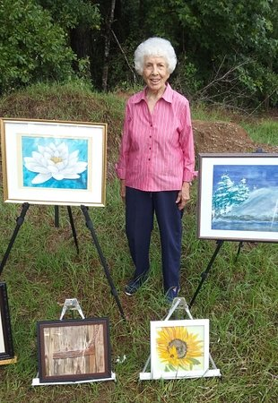 Midland Community Farmers Market: Dot Richardson and some of her watercolors