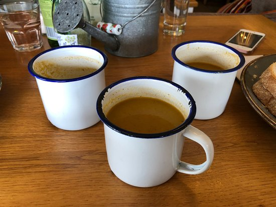 Bolton by Bowland, UK: Soup Cups