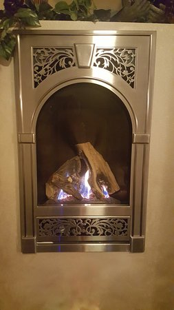 Tuscan Moose Manor, Bed and Breakfast : Hemingway Suite fireplace