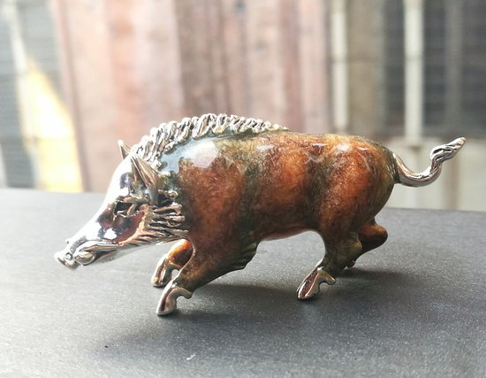 Silver inlaid with enamel Boar from S.Vaggi Ponte Vecchio