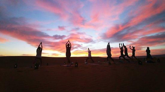 Sahara Desert Private Tour from Marrakech: yoga in the Sahara desert