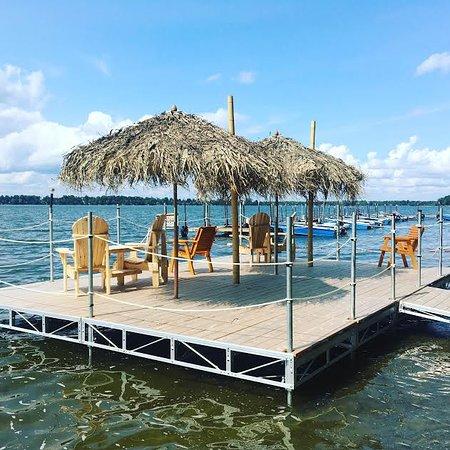 Sebright, Canada: Deck by swimming area