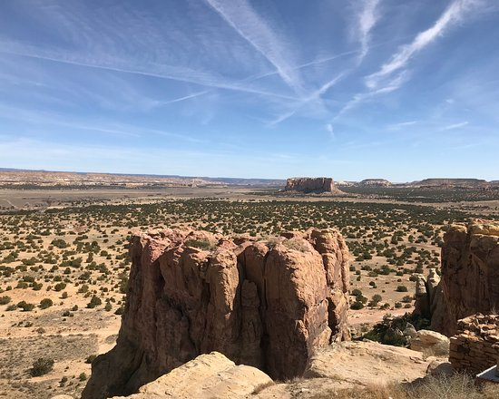 Pueblo of Acoma, NM: View of Enchanted Mesa from Acoma