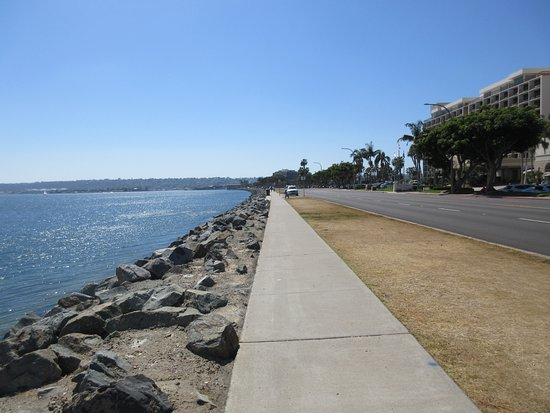 Sheraton San Diego Hotel & Marina: Right in front of the hotel - walking along the Sand Diego Bay