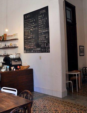 El Café: Part of a menu, where you order