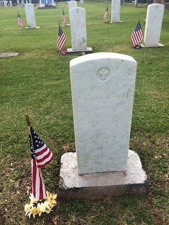 Maui Veterans Cemetery: The grave of Harry Kanakaokai, Hawaii, PVT, 1 Hawaii INF, July 8, 1923