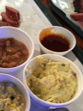 Coppell, TX: Jalapeño creamed corn, potato salad, pinto beans, BBQ sauce