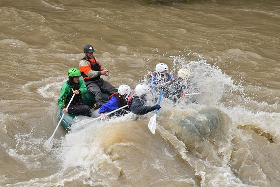 Gallatin River Scenic Float Rafting: We're going to get wet on this one.