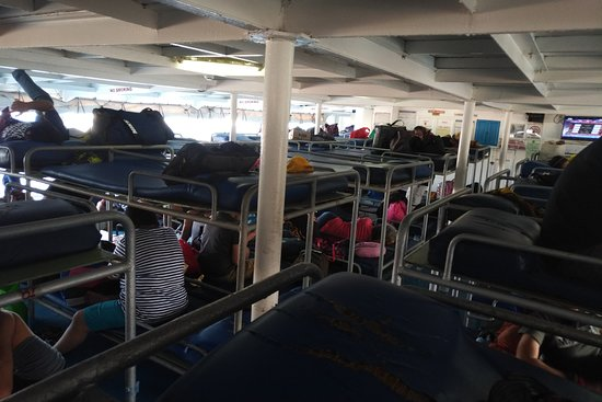 Mt Guiting-Guiting: View of the 'accommodation' on the ferry