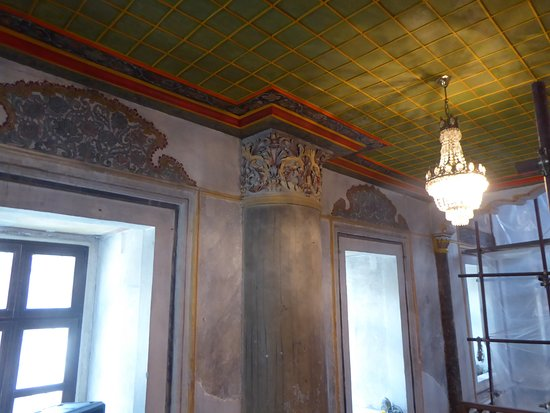 Part of the internal restoration in the Tombul Mosque