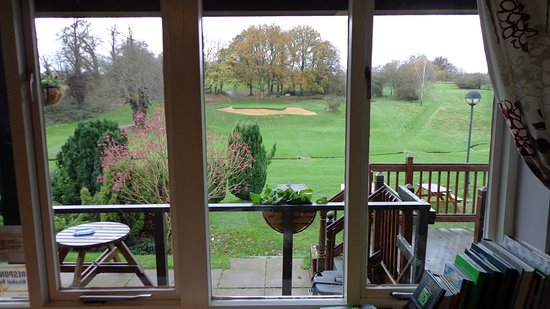 Farnham Castle : The view from the Golf course cafe