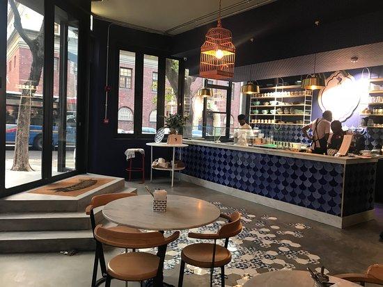 Swan Café Cape Town: Entrance + Crepe Making Area