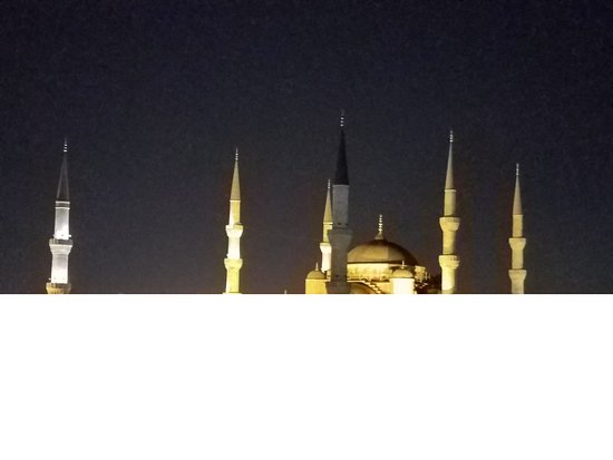 Ibrahim Pasha Hotel, nighttime view from rooftop