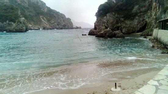 Agios Petros Beach : Beautiful on a cloudy day,too