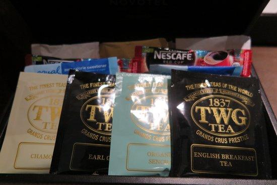 โนโวเทล แบงคอค สุวรรณภูมิ แอร์พอร์ท: มีชาและกาแฟ คุณภาพเยี่ยมให้ กินฟรี ครับ