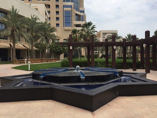 The Ritz-Carlton, Doha: View from the hallway balcony.