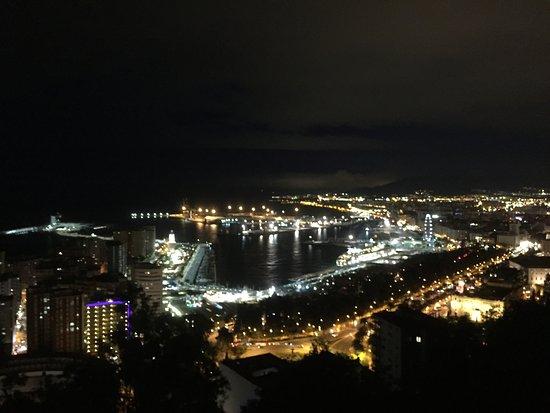 Parador de Malaga Gibralfaro : Night view