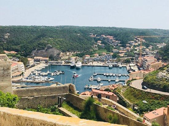 Bonifacio Citadel: View of the marina