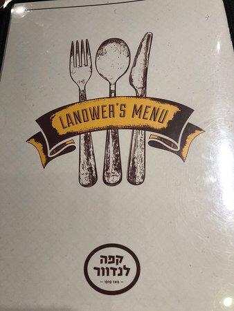 Landwer Cafe: התפריט