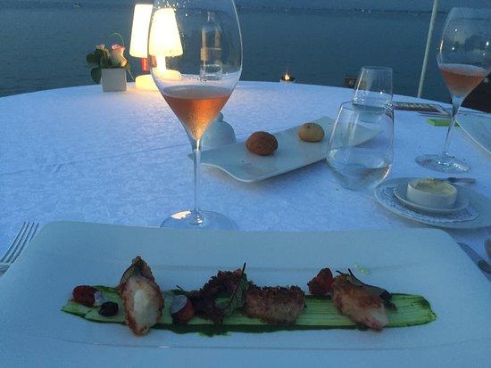 Ristorante Esplanade: Cenando guardando il lago