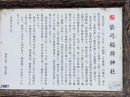 Yakyu Inari Shrine: 由緒書き