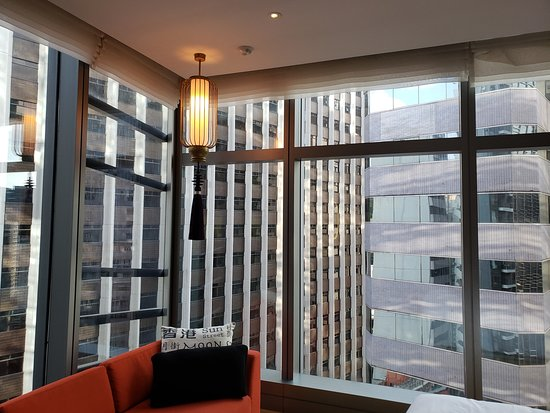 Hotel Indigo Hong Kong Island: View from room with all shades open